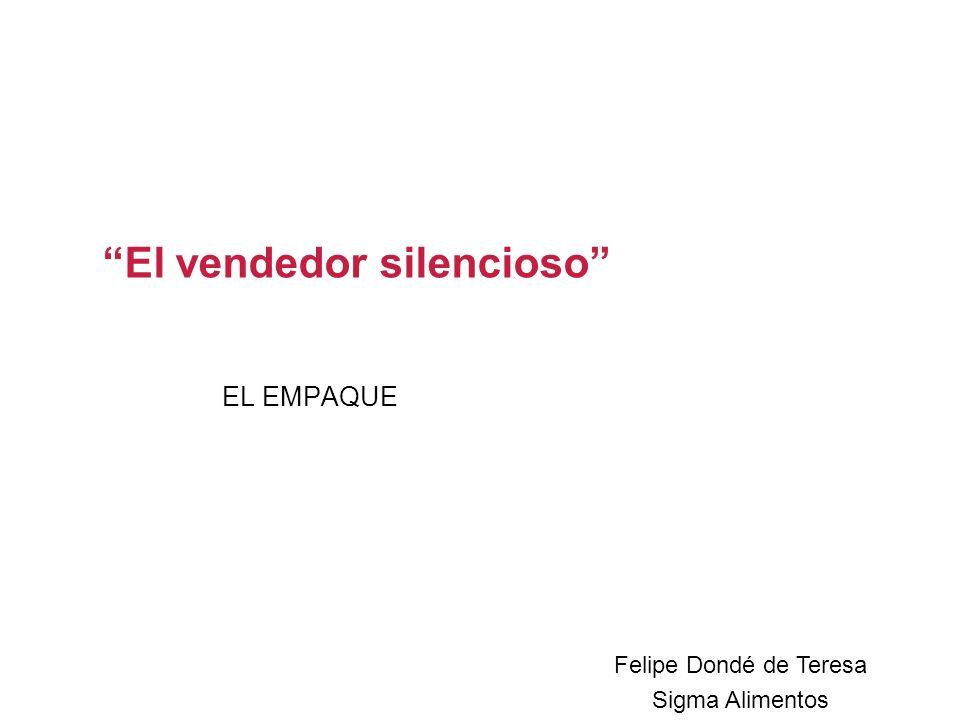 EL EMPAQUE El vendedor silencioso Felipe Dondé de Teresa Sigma Alimentos