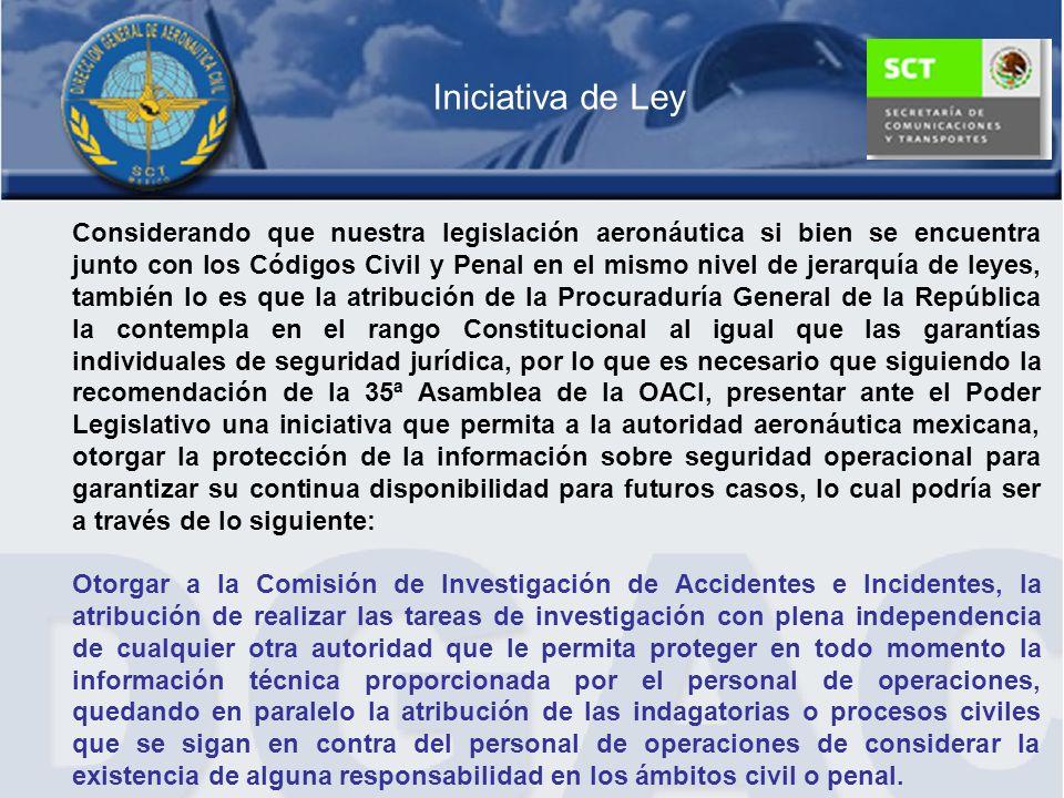 Considerando que nuestra legislación aeronáutica si bien se encuentra junto con los Códigos Civil y Penal en el mismo nivel de jerarquía de leyes, tam