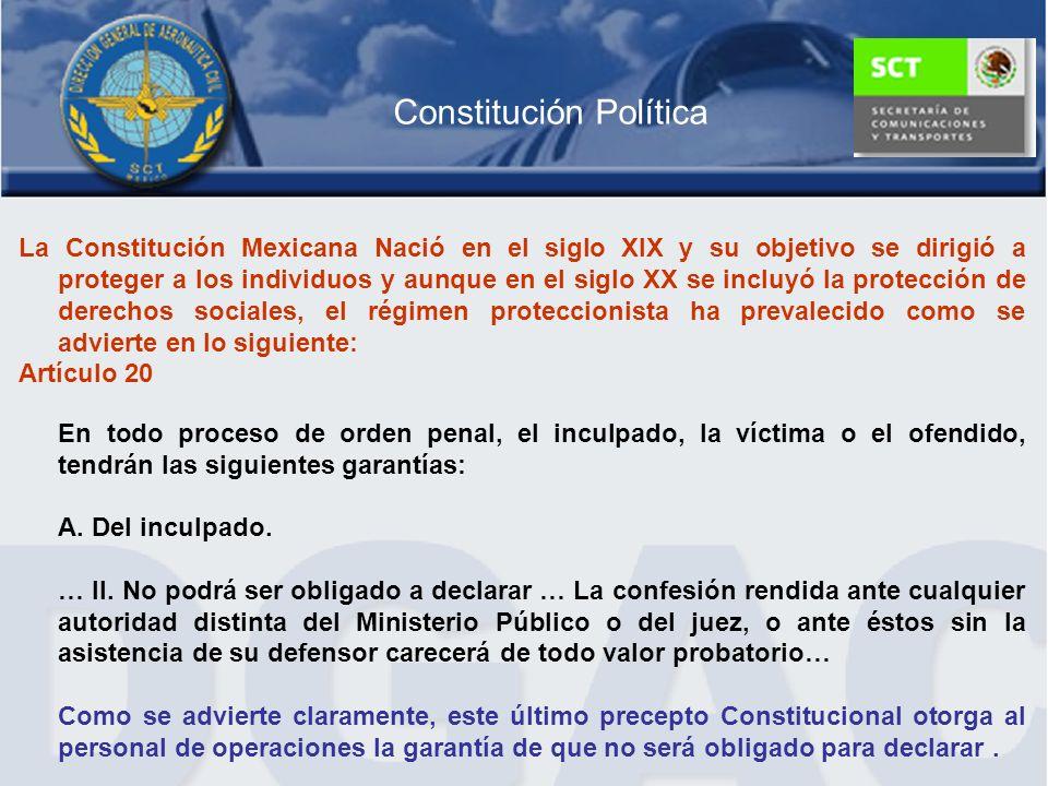 Constitución Política La Constitución Mexicana Nació en el siglo XIX y su objetivo se dirigió a proteger a los individuos y aunque en el siglo XX se i