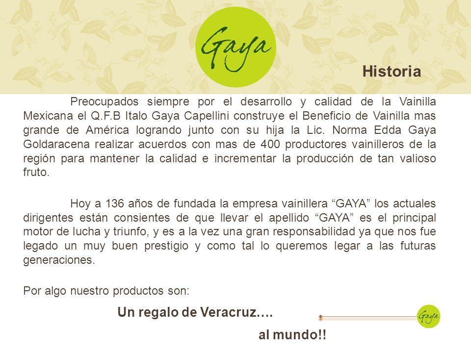 Preocupados siempre por el desarrollo y calidad de la Vainilla Mexicana el Q.F.B Italo Gaya Capellini construye el Beneficio de Vainilla mas grande de