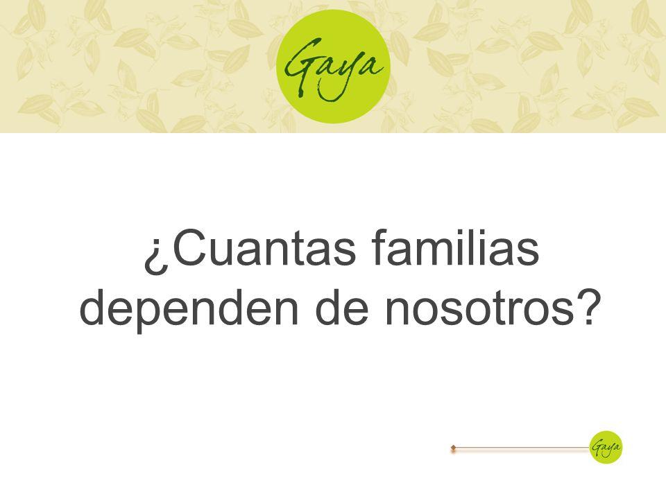 ¿Cuantas familias dependen de nosotros?