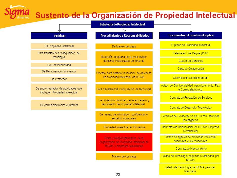 23 Sustento de la Organización de Propiedad Intelectual De Protección De Propiedad Intelectual Estrategia de Propiedad Intelectual De Remuneración a I
