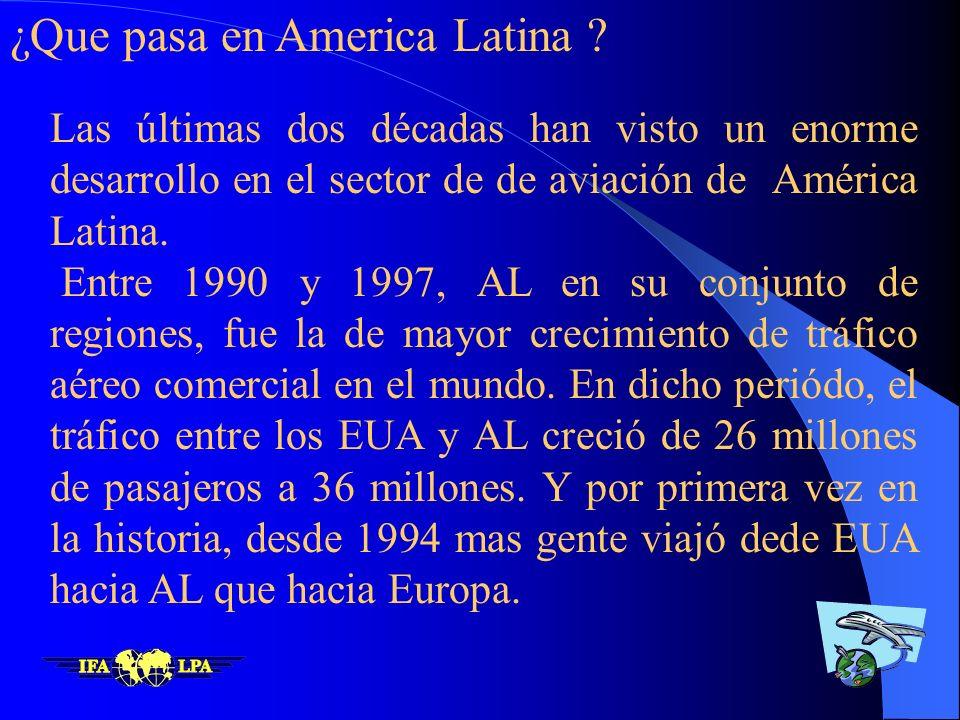 ¿Que pasa en America Latina ? ¿De quien es el reto ? ¿Que podemos hacer ?