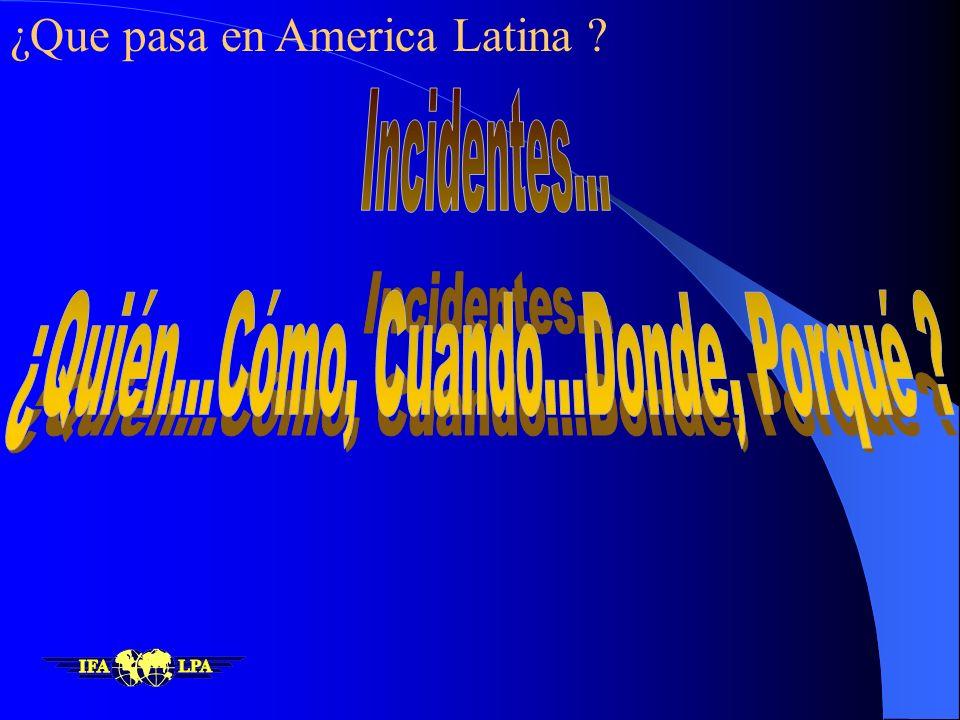 Ultimos Diez Años Latinoamérica y el Caribe, en el periodo 1989-1999 han experimentado el 25 % de las pérdidas de casco Pero solamente han contribuido