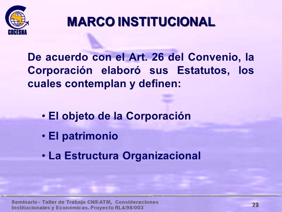 Seminario - Taller de Trabajo CNS/ATM, Consideraciones Institucionales y Económicas. Proyecto RLA/98/003 22 EL ARTICULO 33 COMPLETA LA INSTITUCIONALID