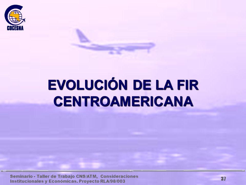 Seminario - Taller de Trabajo CNS/ATM, Consideraciones Institucionales y Económicas. Proyecto RLA/98/003 36 SISTEMA CNS/ATM DE COCESNA