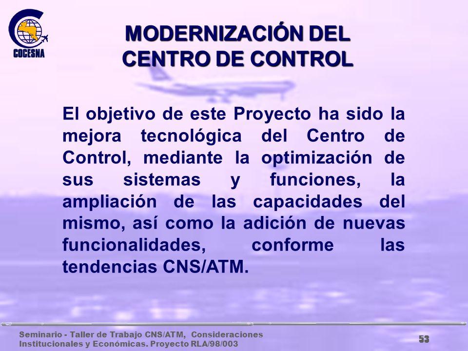 Seminario - Taller de Trabajo CNS/ATM, Consideraciones Institucionales y Económicas. Proyecto RLA/98/003 52 PROYECTOS A MEDIANO PLAZO (AÑOS 2003 – 200