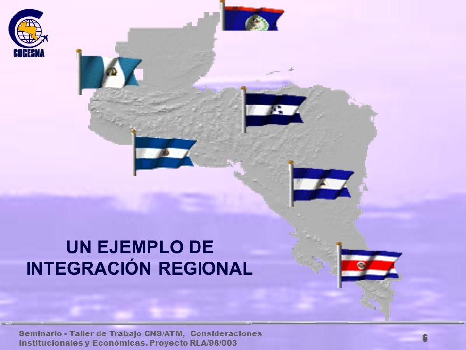 Seminario - Taller de Trabajo CNS/ATM, Consideraciones Institucionales y Económicas. Proyecto RLA/98/003 5 PAÍSES INTEGRANTES DE COCESNA