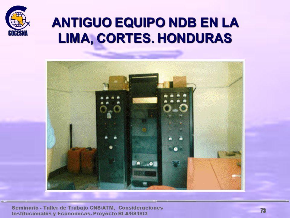 Seminario - Taller de Trabajo CNS/ATM, Consideraciones Institucionales y Económicas. Proyecto RLA/98/003 72 ANTIGUO CENTRO DE CONTROL, CENAMER, 1986