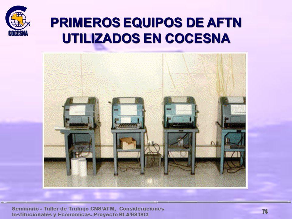 Seminario - Taller de Trabajo CNS/ATM, Consideraciones Institucionales y Económicas. Proyecto RLA/98/003 73 ANTIGUO EQUIPO NDB EN LA LIMA, CORTES. HON
