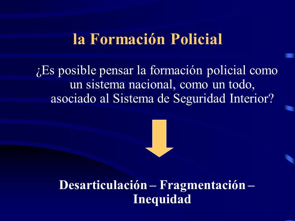 Tendencias de la educación policial Interacción con otros actores sociales Instrucción policial Profesionalización pedagógica Interacción con las Universidades Nacionales - Organizaciones de la Sociedad Civil -