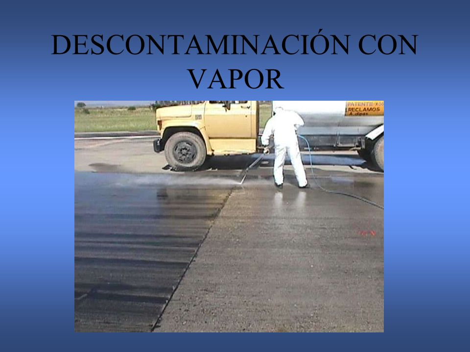 DESCONTAMINACIÓN CON VAPOR