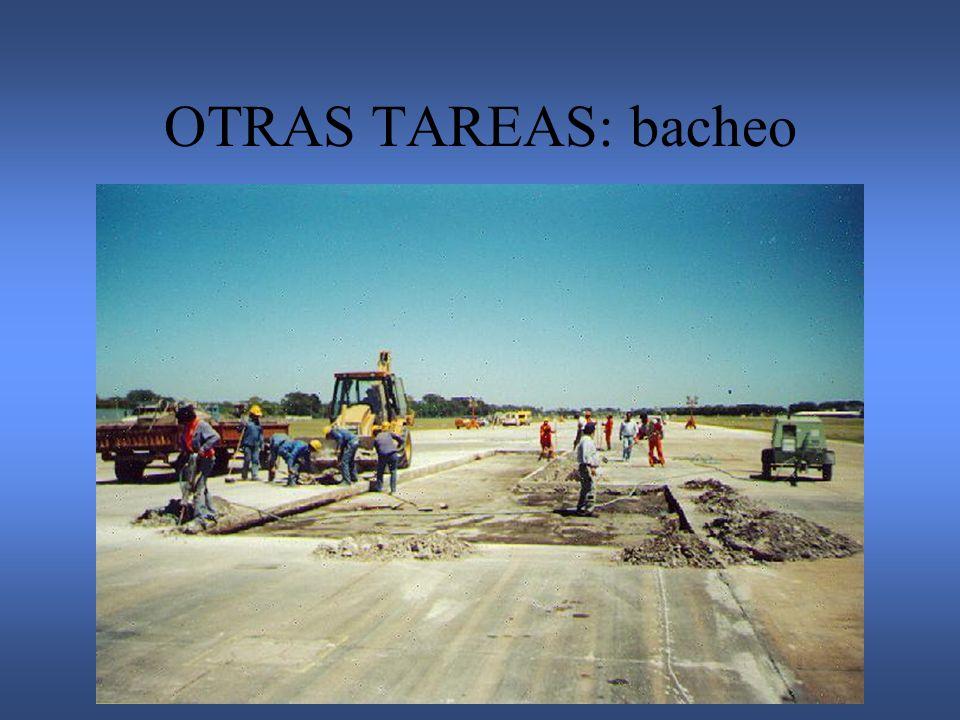 OTRAS TAREAS: bacheo