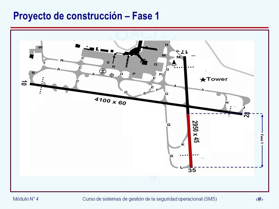 Módulo N° 4Curso de sistemas de gestión de la seguridad operacional (SMS) 32 Proyecto de construcción – Fase 1 Fase 1