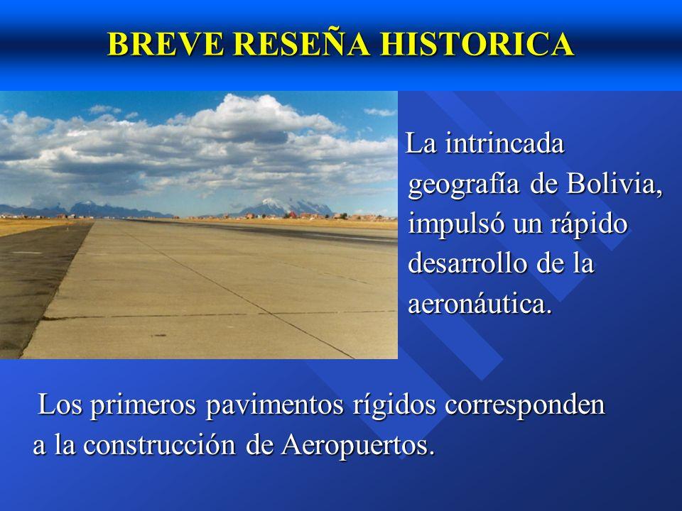CARRETERA SUCRE - AEROPUERTO 8 km de longitud, ancho de faja 7.30m, bermas de asfalto, espesor de losa de 18cm, barras pasajuntas de 25mm Habilitado en 1976.