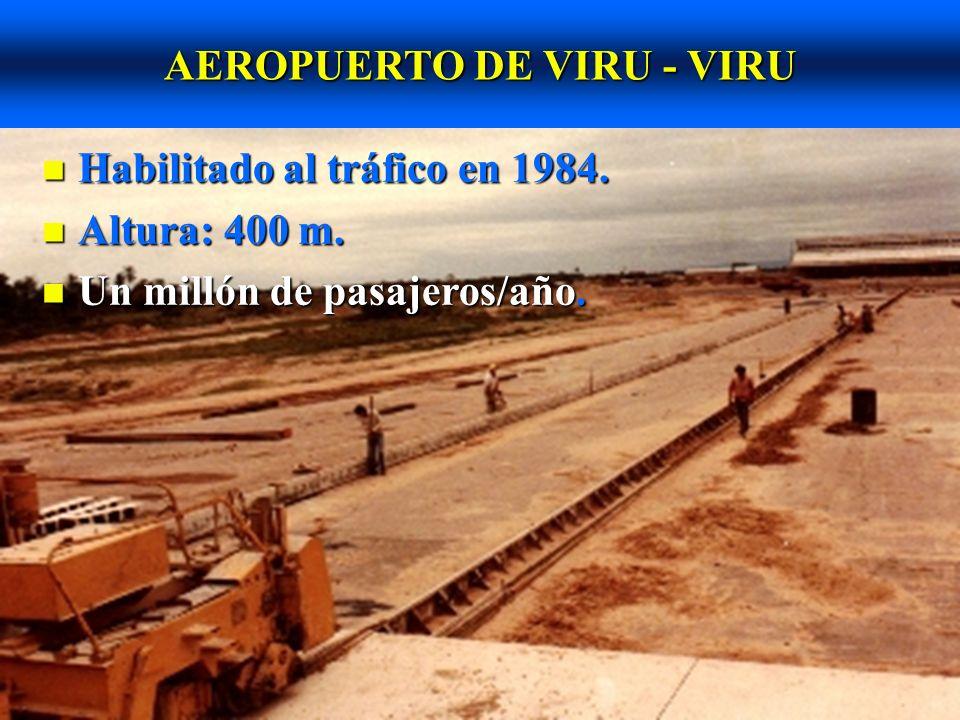 AEROPUERTO DE VIRU - VIRU n Espesor de losas áreas críticas: 40 cm.