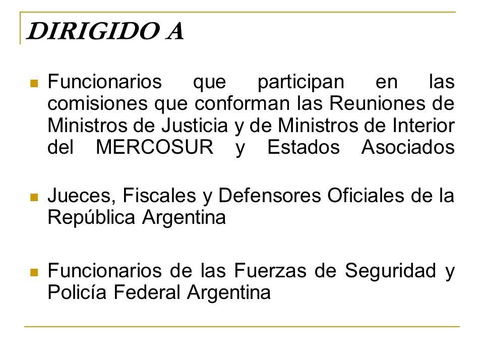 Miércoles 11 Palabras del Ministro de Justicia, Seguridad y Derechos Humanos de la República Argentina Palabras del Señor Embajador de la República Federativa del Brasil Palabras del Señor Embajador de la República de Francia Palabras del Señor Embajador de Estados Unidos de América PROGRAMA