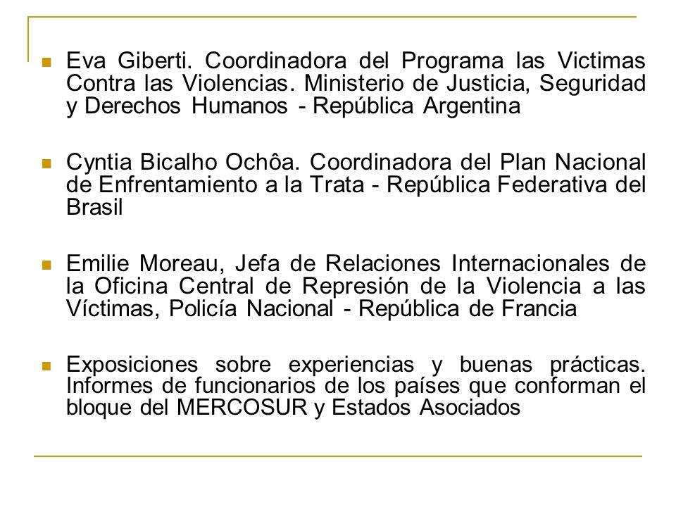 Eva Giberti. Coordinadora del Programa las Victimas Contra las Violencias.