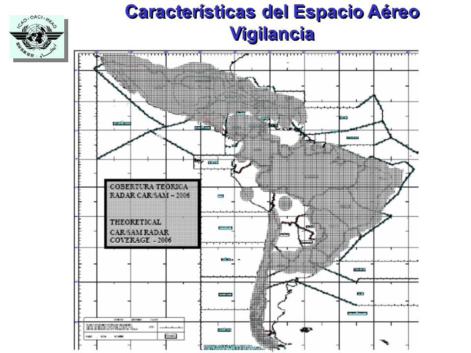 Características del Espacio Aéreo Vigilancia