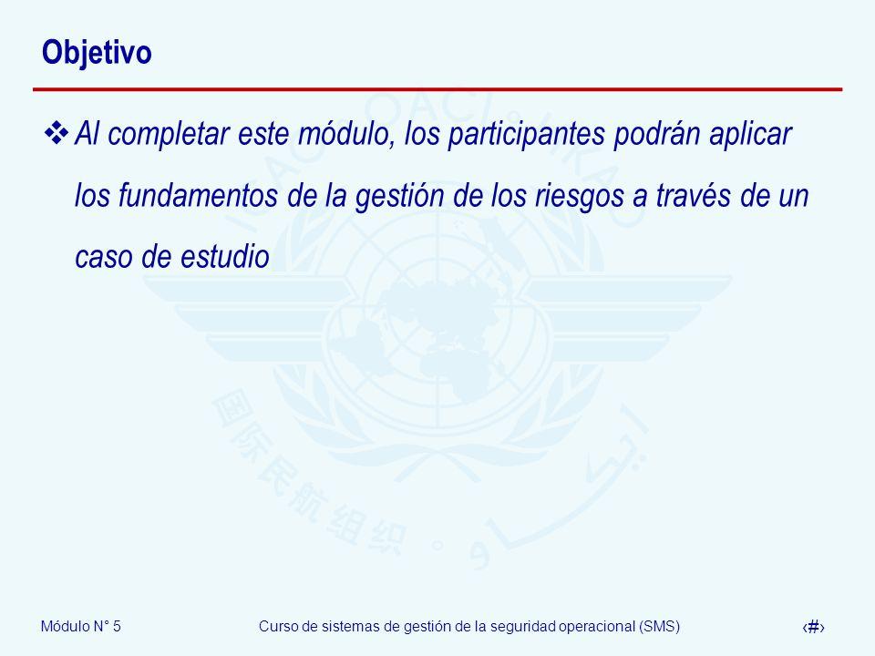 Módulo N° 5Curso de sistemas de gestión de la seguridad operacional (SMS) 44 Preguntas y respuestas Riesgos