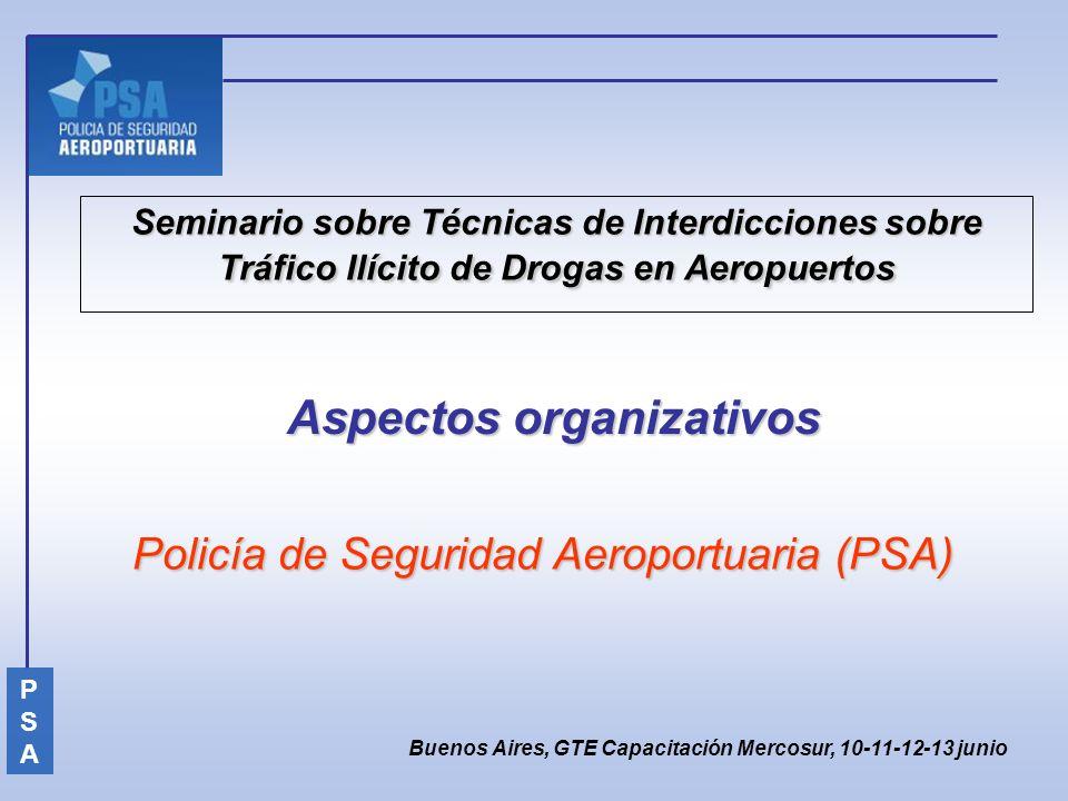 Seminario sobre Técnicas de Interdicciones sobre Tráfico Ilícito de Drogas en Aeropuertos Policía de Seguridad Aeroportuaria (PSA) Buenos Aires, GTE C