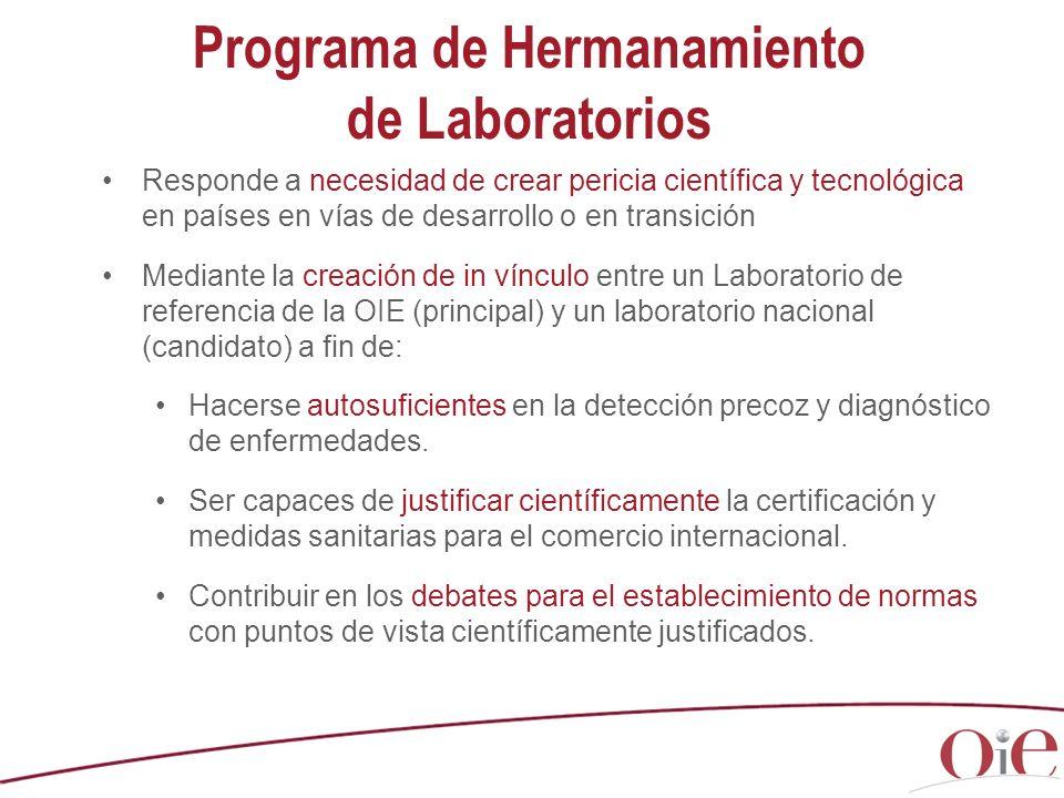 Programa de Hermanamiento de Laboratorios Responde a necesidad de crear pericia científica y tecnológica en países en vías de desarrollo o en transici