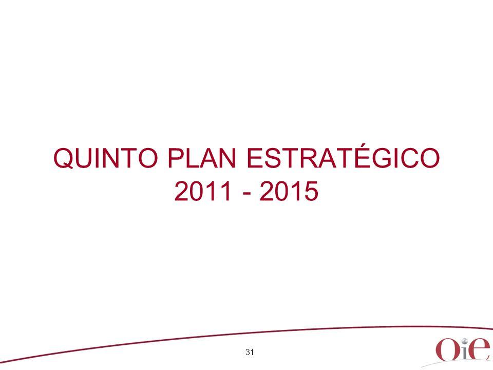 QUINTO PLAN ESTRATÉGICO 2011 - 2015 31