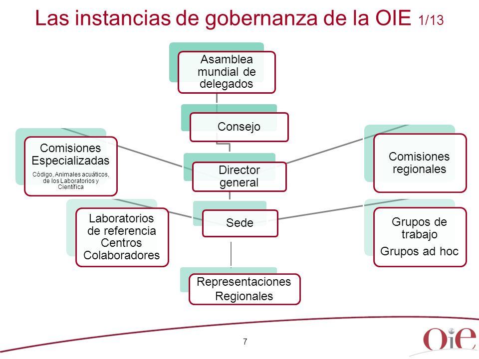 7 Las instancias de gobernanza de la OIE 1/13 Representaciones Regionales