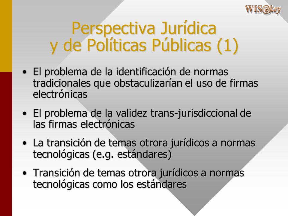 Perspectiva Jurídica y de Políticas Públicas (1) El problema de la identificación de normas tradicionales que obstaculizarían el uso de firmas electró