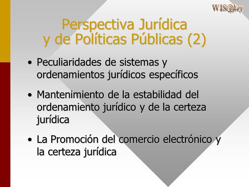 Perspectiva Jurídica y de Políticas Públicas (2) Peculiaridades de sistemas y ordenamientos jurídicos específicosPeculiaridades de sistemas y ordenami