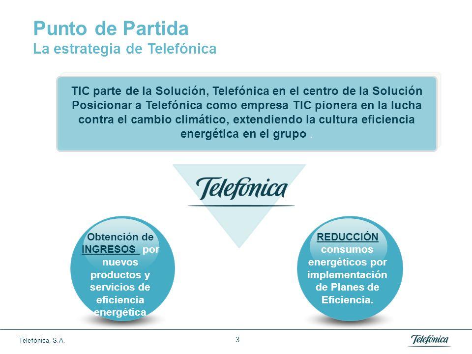 Telefónica, S.A. 2 El sector de las Tecnologías de la Información y Comunicación - TIC* genera emisiones de CO2 mucho menos que otros sectores de la E