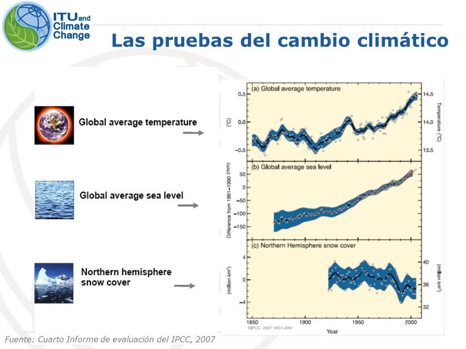 8-10 de julio de 2009 3 Las pruebas del cambio climático Fuente: Cuarto Informe de evaluación del IPCC, 2007