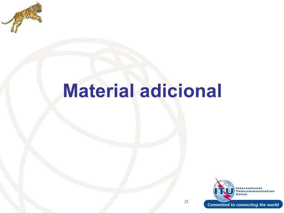 ITU Forum Bridging Standardization Gap – Brasilia, May Material adicional