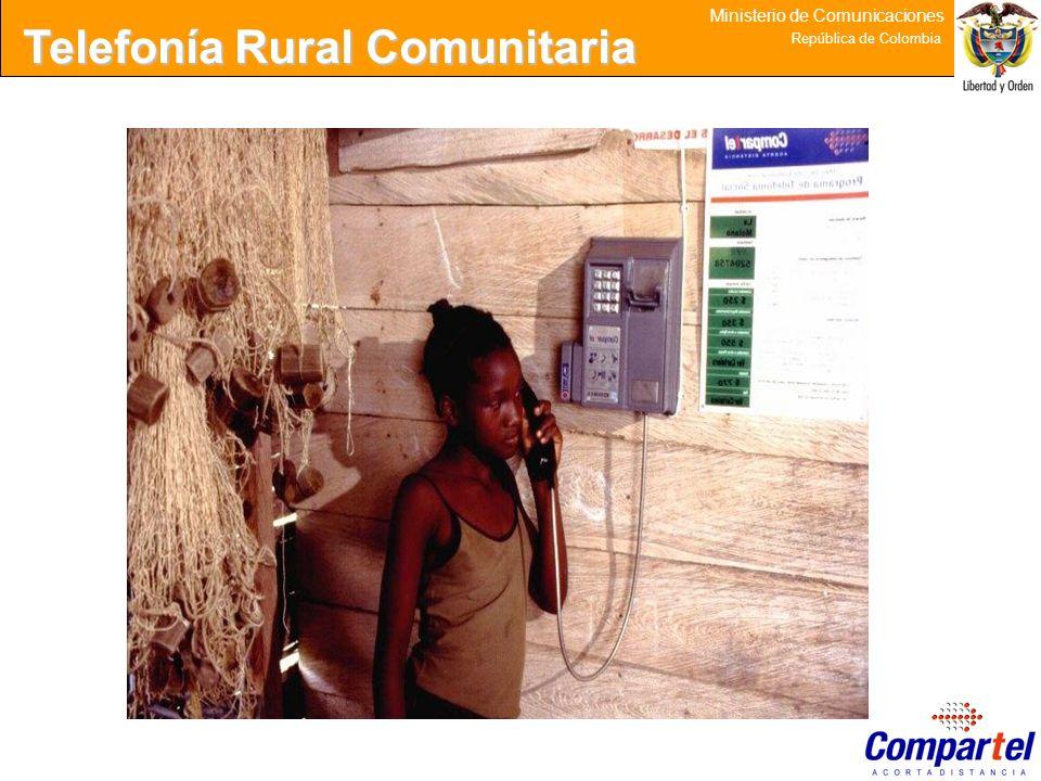 24 Ministerio de Comunicaciones República de Colombia Telefonía Rural Comunitaria