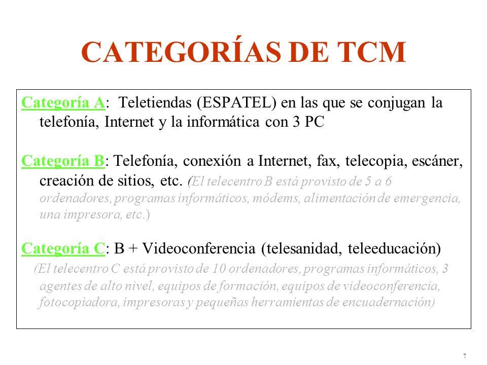 6 RESULTADOS PREVISTOS Multiplicación de los puntos de acceso a las TIC y mejora de la accesibilidad (proximidad y reducción de las tarifas).