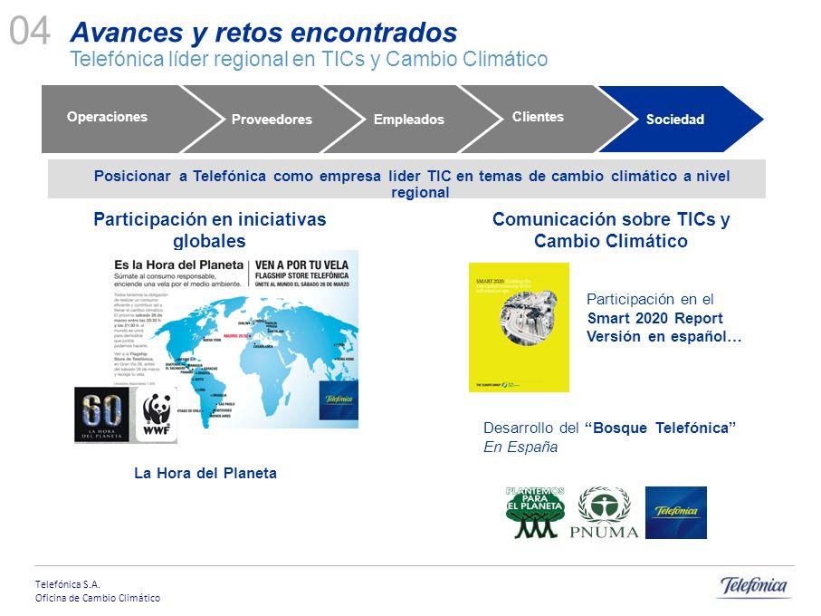Telefónica S.A. Oficina de Cambio Climático OBJETO PROYECTO Posicionar a Telefónica como empresa líder TIC en temas de cambio climático a nivel region