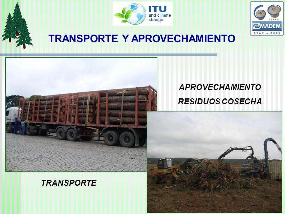 TRANSPORTE APROVECHAMIENTO RESIDUOS COSECHA TRANSPORTE Y APROVECHAMIENTO