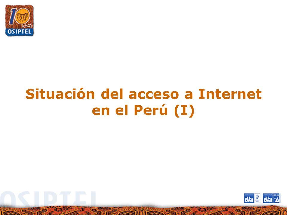 Situación del acceso a Internet en el Perú (I)