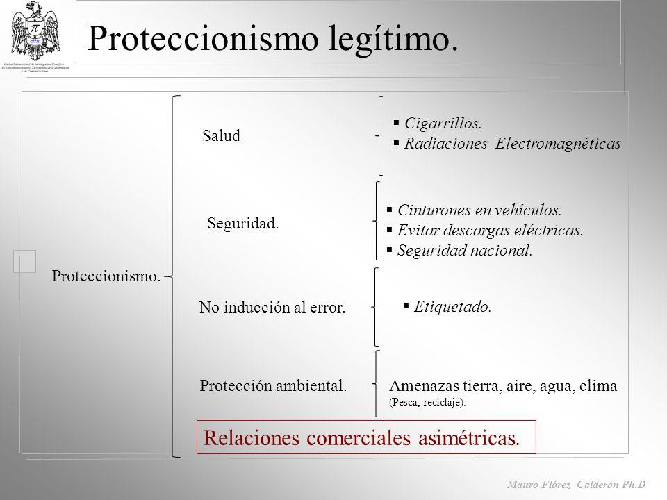 Mauro Flórez Calderón Ph.D Barreras al comercio Reglamentos técnicos Características especificas del producto.