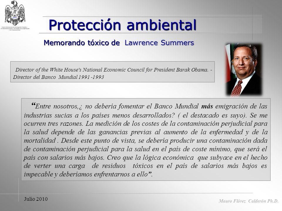 Mauro Flórez Calderón Ph.D Proteccionismo legítimo.