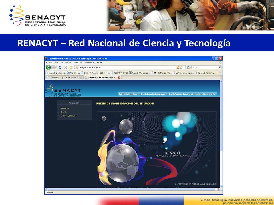 RENACYT – Red Nacional de Ciencia y Tecnología