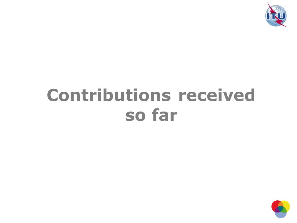 Contributions received so far