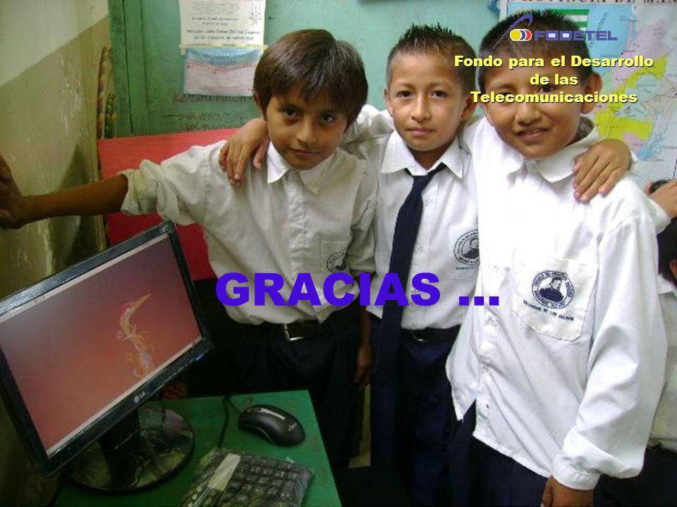 GRACIAS … Fondo para el Desarrollo de las Telecomunicaciones