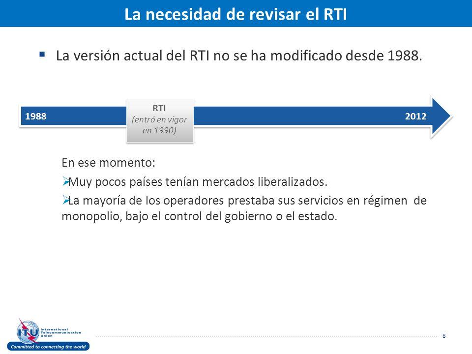 La versión actual del RTI no se ha modificado desde 1988.
