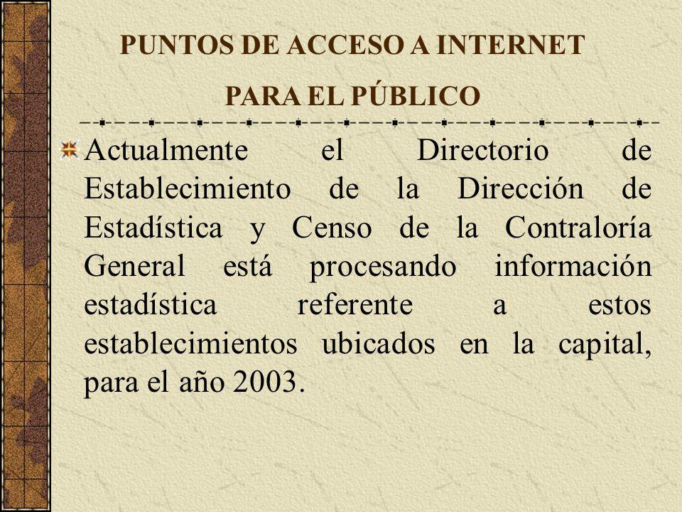 Actualmente el Directorio de Establecimiento de la Dirección de Estadística y Censo de la Contraloría General está procesando información estadística