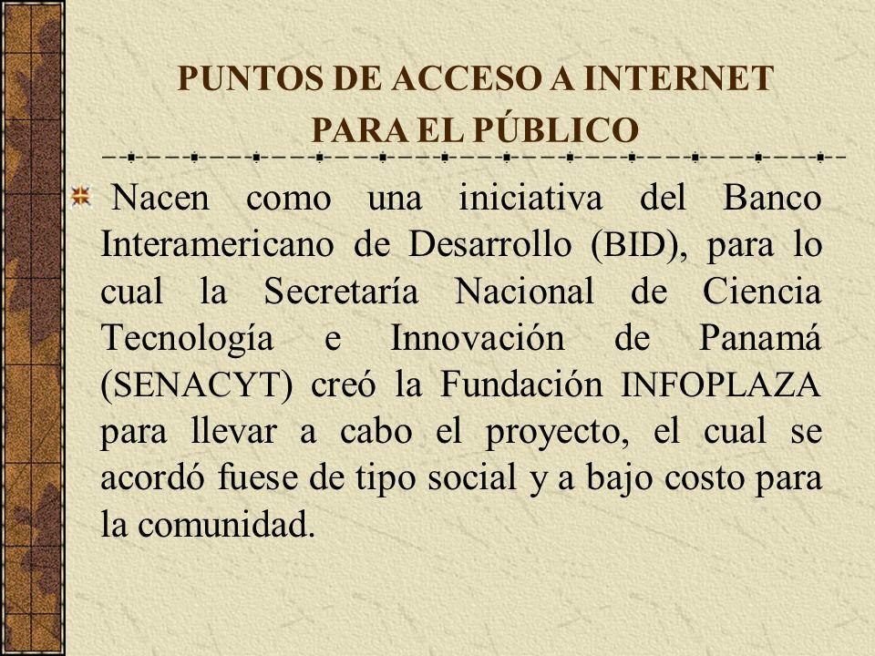Nacen como una iniciativa del Banco Interamericano de Desarrollo ( BID ), para lo cual la Secretaría Nacional de Ciencia Tecnología e Innovación de Pa