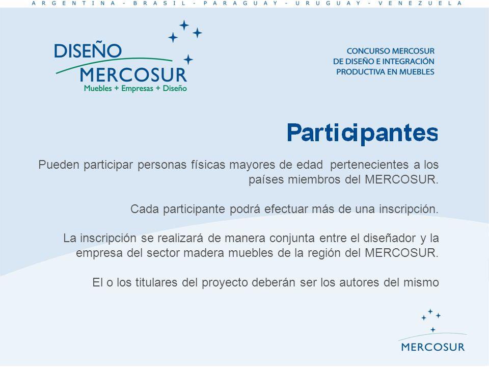 Pueden participar personas físicas mayores de edad pertenecientes a los países miembros del MERCOSUR. Cada participante podrá efectuar más de una insc
