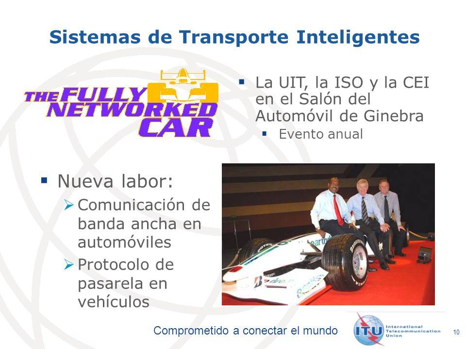 Comprometido a conectar el mundo 10 Sistemas de Transporte Inteligentes Nueva labor: Comunicación de banda ancha en automóviles Protocolo de pasarela
