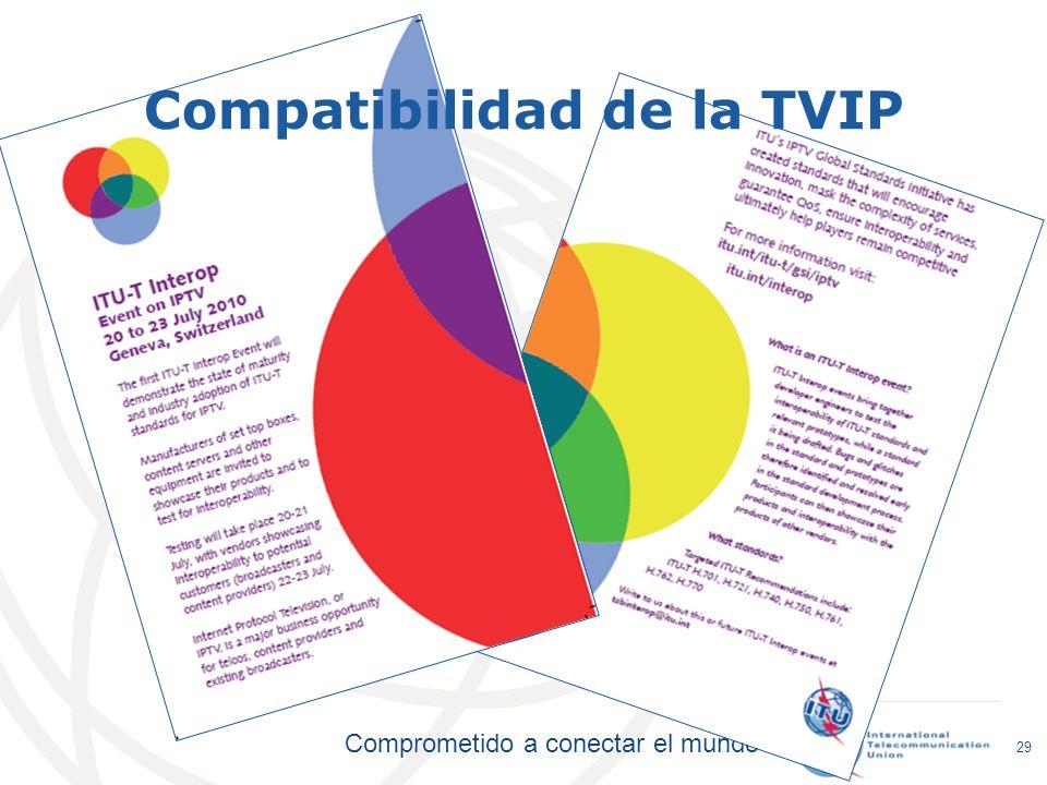 Comprometido a conectar el mundo Compatibilidad de la TVIP 29