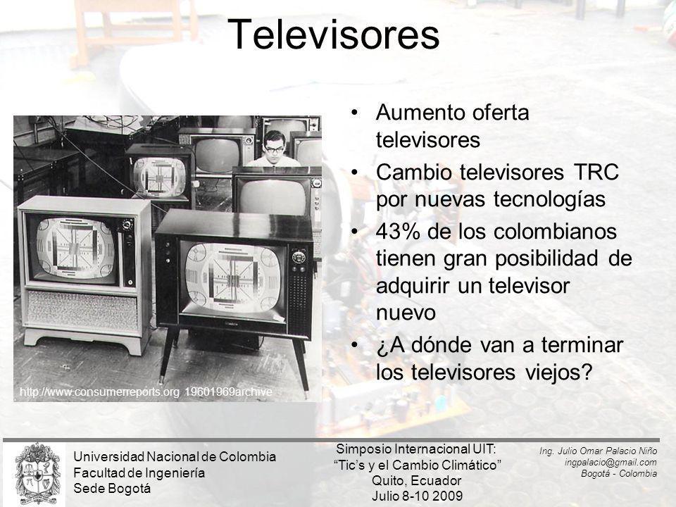 Televisores Aumento oferta televisores Cambio televisores TRC por nuevas tecnologías 43% de los colombianos tienen gran posibilidad de adquirir un tel